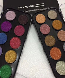 Mac 10 ultra pigmented glitter shadows